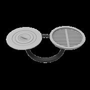 Комплект 400 (плита+решетка-гриль для печи Берель)