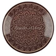 Ляган Риштанская Керамика 34 см. плоский, коричневый