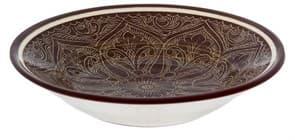 Тарелка глубокая Риштанская Керамика 19 см. коричневая
